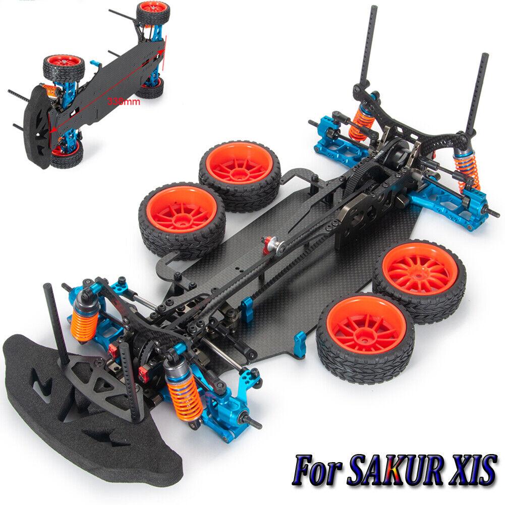Metal Y Cochebono Radio Control 1 10 Drift Racing Coche Body Conjunto de marco para SAKUR XIS Sport Unidad