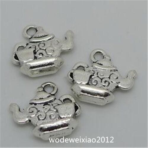 15pc Tibetan Silver teapot Charm Bead Pendant accessories Wholesale  JP860