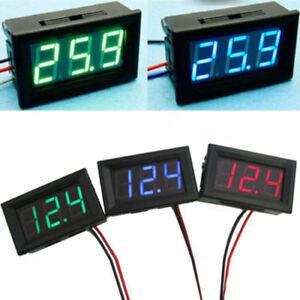 Voltage-Display-DC-Meter-3-Digital-Mini-Voltmeter-Wires-LED-0-30V-Panel-Tester