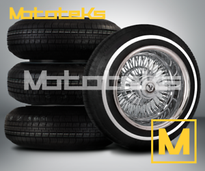 13X7-WIRE-WHEELS-72-SPOKE-STRAIGHT-LACED-RIMS-W-ZENITH-STYLE-KNOCK-OFFS-amp-TIRES