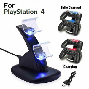 For-PS4-PlayStation4-Controller-Dual-LED-Charger-Dock-Station-USB-Fast-Charging