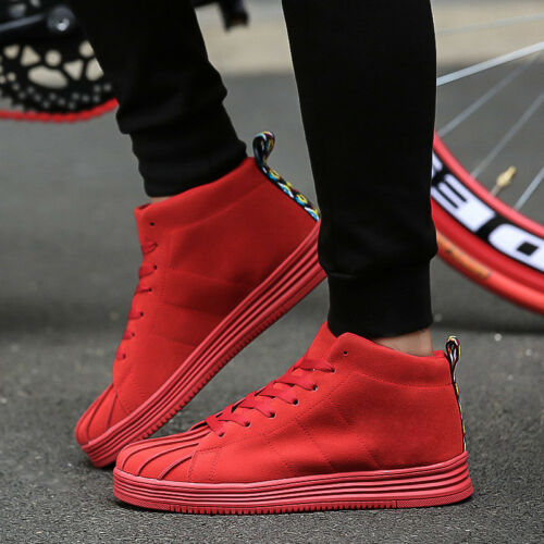 Fashion Men Casual Shoes High Top Casual Shoes Breathable Sports Sneakers New