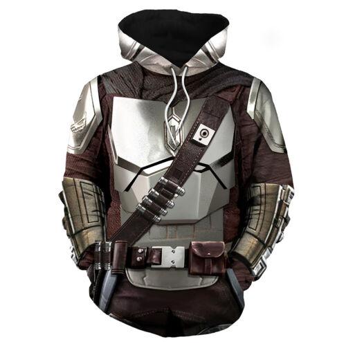 The Mandalorian Cosplay Hoodie 3D Printed Pullover Sweatshirt Streetwear