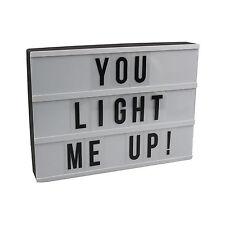 Cinematic Light Up Box DIY Message Display Plaque Customised Wedding Birthday Ne