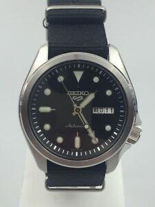 Seiko 5 Sports Automatic Black Dial Nylon Strap Men's Watch SRPE67K1 PRE-OWNED