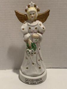 Vintage-Porcelain-Bisque-Christmas-Figurine-December-the-Star-Angel-8-5-Tall