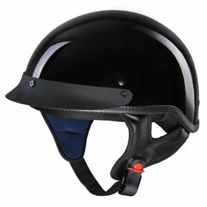 DOT-Open-Face-Motorcycle-Half-Helmet-Chopper-Cruiser-Bike-Head-Cap-Size-S-M-L-XL