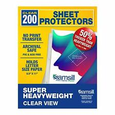Samsill Sheet Protectors Acid Free Amp Archival Safe 85 X 11 Inches Top Load C