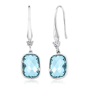 Aquamarine-Earrings-Drop-Dangle-Briolette-Gems-18k-White-Gold-Plated-2-0-Ct
