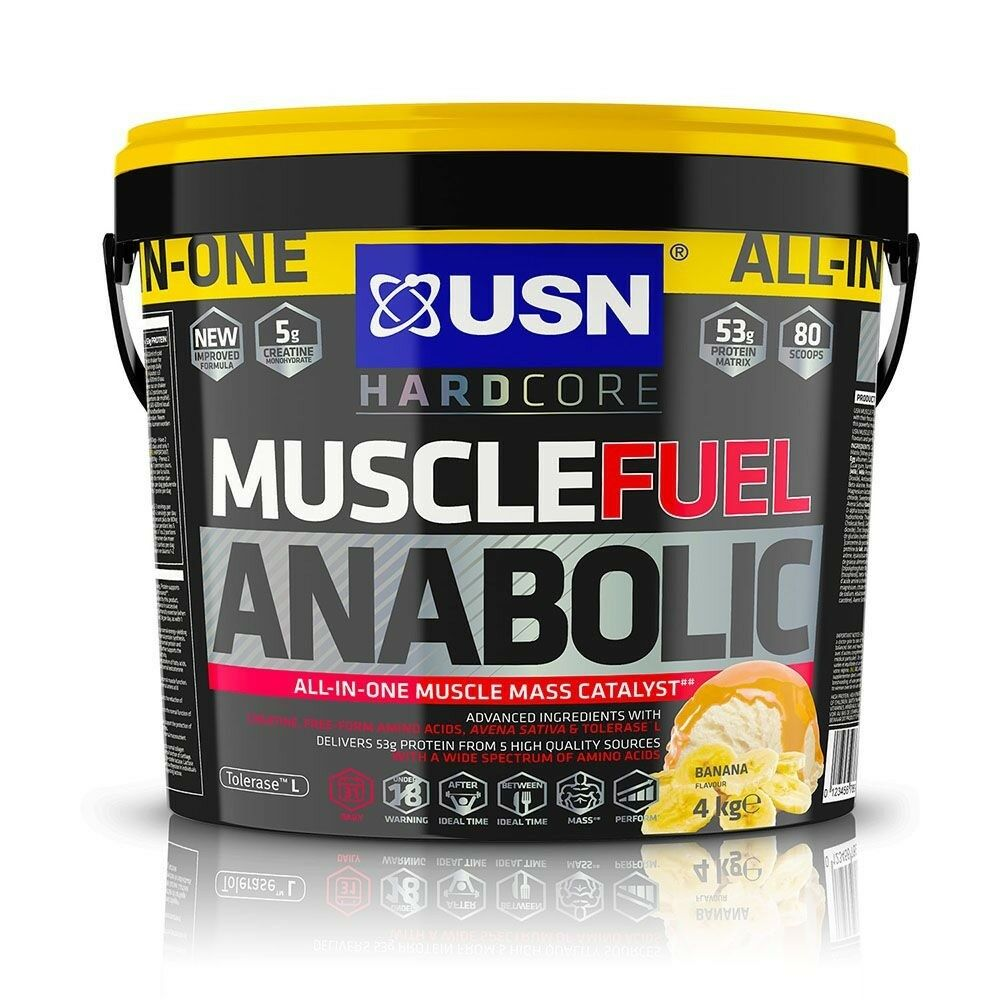 USN Muscle Muscle Muscle Fuel Anabolic All-In-One Mass Gainer 4kg Protein Powder Mass Gainer 99040d