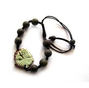Two-Layer-Natural-Stone-Lucky-Fish-Word-Tibet-Buddhist-Prayer-Beads-Mala-Bracele