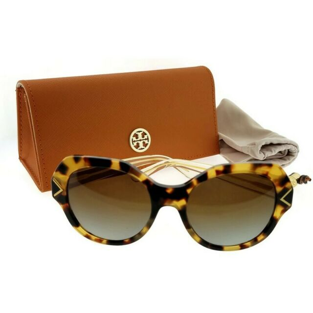 fcd7a809d0f1 Tory Burch TY7116-1718T5-53 Women Tortoise Frame Brown Lens Polarized  Sunglasses