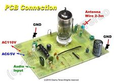 Single Tube AM Transmitter /w 5X8/6X8, 660k-760kHz, PCB parts set