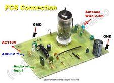 Single Tube AM Transmitter /w 5X8/6X8, 660k-760kHz, PCB parts set