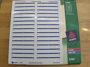 Details about 300 Avery 5866/5766 green/blue File Folder Labels _  Laser/Inkjet 2/3