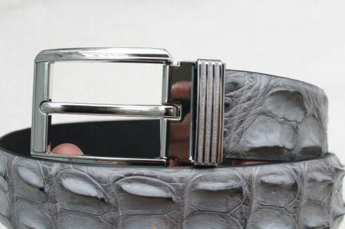 "Crocodile Belt Skin Leather Men/'s Gray Genuine Alligator W 1.5 /"" Unjointed"