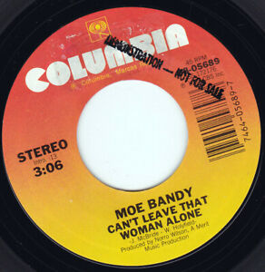"""MOE BANDY - Can't Leave That Woman Alone 7"""" 45"""