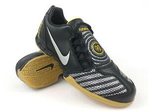 Nike-Mens-Rare-Total90-Shoot-ll-IC-318884-007-Black-Yellow-Soccer-Shoes-Size-11