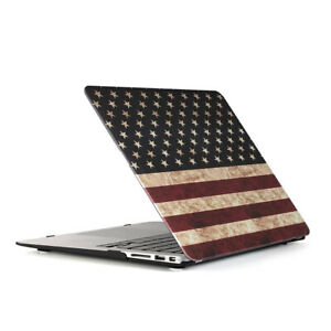 For Old Macbook Air 13 Case A1369 A1466 American Flag Plastic Hard Shell Cover