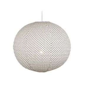 Large 51cm Fabric Polka Dot Round Hanging Pendant Light