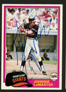 Johnnie LeMaster  #84 signed autograph auto 1981 Topps Baseball Trading Card