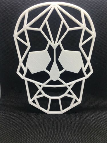 Geometric Polygonal Skull Wall Art Hanging Decoration Various Colours Available