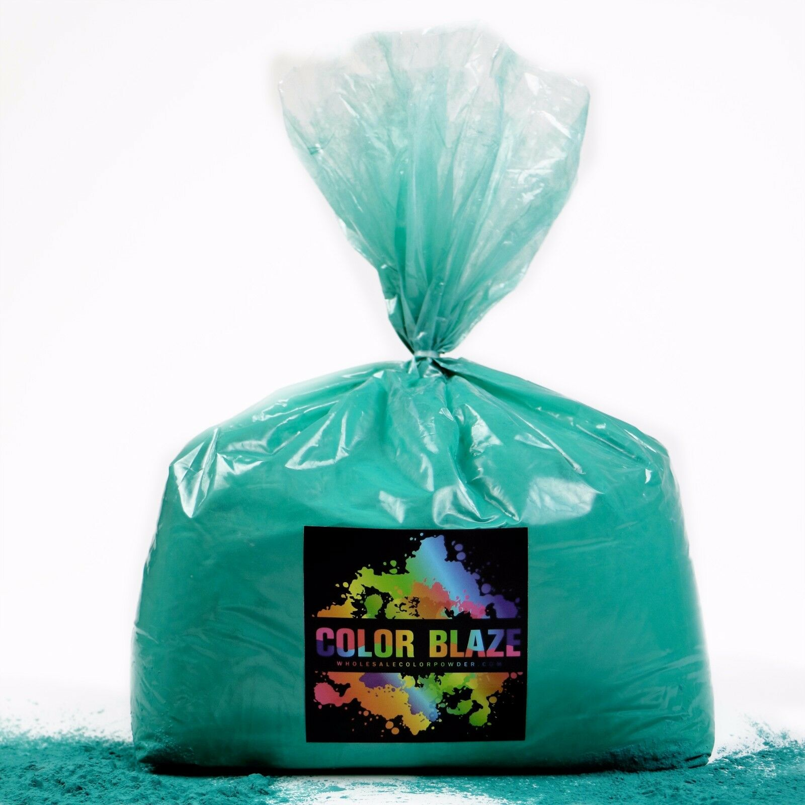 Farbe Powder Holi Powder- 25 Pounds Teal ideal for fun runs and holi events