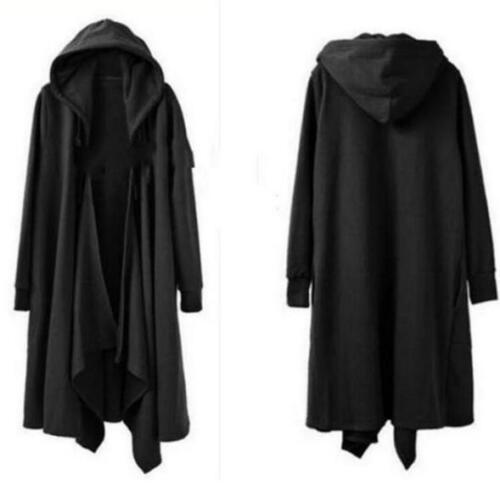 Grande taille Hommes Coupe Ample Cape à Capuche à Manches Longues Outwear Surdimensionné Manteau Robe Tops