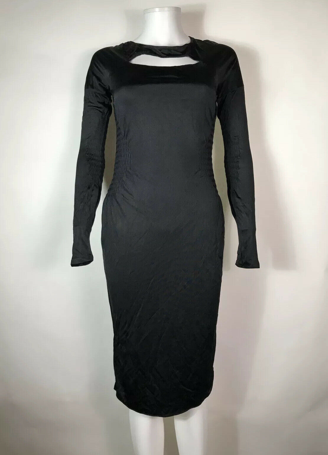 Rare Vtg Gucci Black Cut Out Dress S - image 2