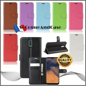 Coque-Etui-Housse-Litchi-Style-Cuir-PU-Leather-Stand-Wallet-Case-Cover-Nokia-2-3