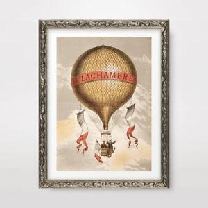 HOT-AIR-BALLOON-ILLUSTRATION-STEAMPUNK-ART-PRINT-POSTER-A4-A3-A2-Decor-Picture