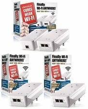 DEVOLO 9392Z2 POWERLINE DLAN 1200+ WiFi AC PASSTHROUGH, 4 ADAPTER NETWORK KIT