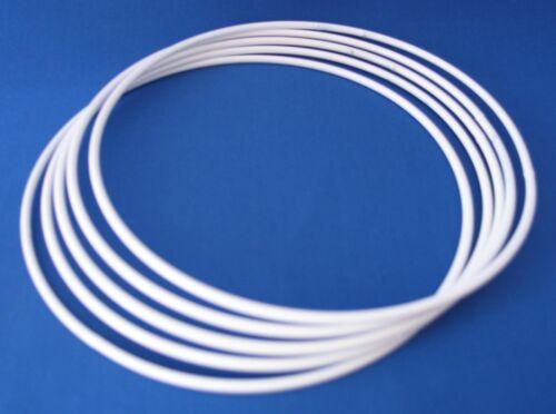 Metallring Drahtring 100mm 10cm für Wickeltechnik 5 Stck Traumfänger Weiß