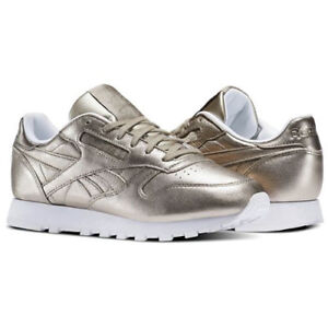 5a2cc0c889db58 Image is loading Reebok-BS7898-Men-Classic-leather-METALLIC-Running-shoes-