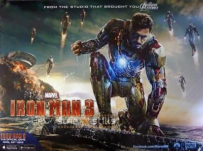 "IRON MAN 3 ORIGINAL Double Sided MOVIE FILM POSTER 30x40/"" Quad REGULAR Style V2"
