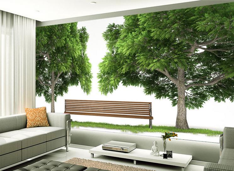 3D Immergrün Baum Stuhl  864 Tapete Wandgemälde Tapete Tapeten Bild Familie DE