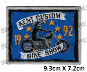 HELLS-ANGELS-KENT-CUSTOM-BIKE-SHOW-1992-Patch-HIGHLY-COLLECTABLE-RARE-KBCS