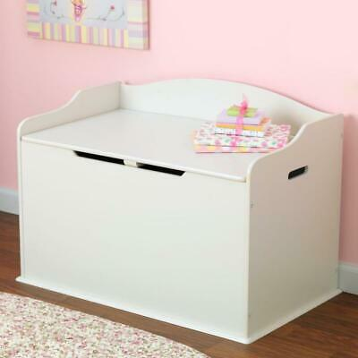 New White Wooden Toy Box Storage Unit Childrens Kids Chest Boxes