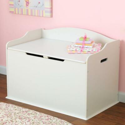 New White Wooden Toy Box Storage Unit