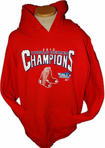 low priced 87f9e 0b4ff Details about BOSTON RED SOX 2013 World Series Champions Hooded Sweatshirt  Hoodie RED