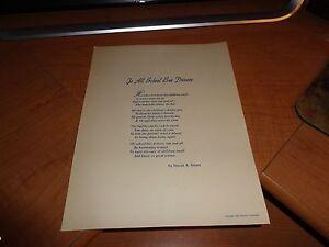 "1953 Edgar A Guest Poem Print ""to All School Bus Drivers"" Chrysler Corporation Decorative Arts Antiques"
