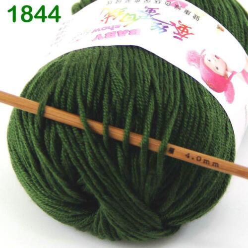 Vente nouveau Lot 6 ballsx 50 g Doux Cachemire Velours de soie Enfants Main Knitting Yarn 44