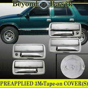 2001 2004 Chevy S10 Gmc Sonoma Chrome Door Handle 4door Gas Fuel Covers Overlay Ebay