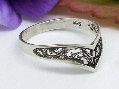 Zierlicher Silberring in Diademform 925er Sterling Silber Ring leicht geschwärzt