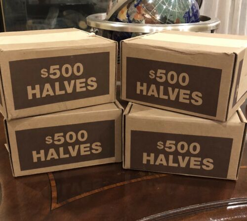 FOUR BRINKS HALF DOLLAR BANK BOXES BOXES ARE EMPTY NO COINS 4