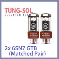 2x NEW Tung Sol 6SN7 Tungsol TS Vacuum Tube 6SN7 GTB TESTED, Matched Pair