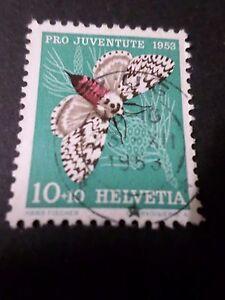 Suisse 1953, Timbre 540, Papillon Insecte, Nonne, Oblitéré, Butterfly, Used TrèS Poli