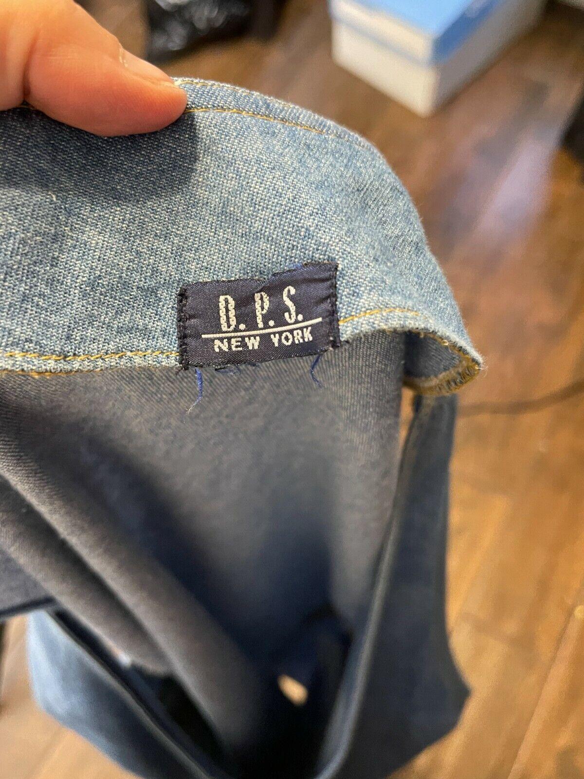 Vtg D.P.S. New york Denim jean jumper apron pinaf… - image 6