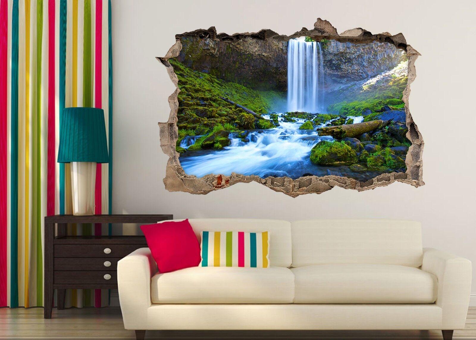 3D Wasserfall 391 Mauer Murals Mauer Aufklebe Decal Durchbruch AJ WALLPAPER DE