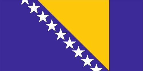Bosnien und Herzegowina lfd0024 Autoaufkleber Sticker Fahne Flagge Land